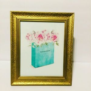 Blue bag and Roses Print ONLY